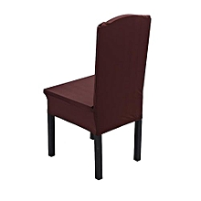 Candy Colors Elastic Chair Covers Home Seat #Dark Coffee