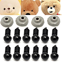Freebang 100Pcs 50pairs 6mm Black Plastic Safety Eye Toy For Teddy Eyes Puppet Doll Craft