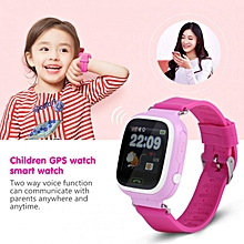 SOS Anti-Lost Watch Wristwatch GPS Locator Baby Safe Child With WiFi Pink English
