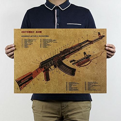 Generic Art Gun Poster Pour Bar Pub Decoration Murale Mitraillette