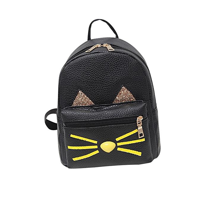 ... guoaivo Lovely Cat Backpacks Women School Teenage Girls Travel Laptop  Bagpack BK ... 4c78e0c20b