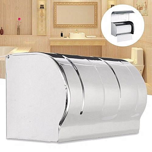 Buy Universal Modern Chrome Toilet Roll Tissue Paper Dispenser