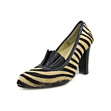 Zebra Print Official Leather Ladies Shoes slip on shoes
