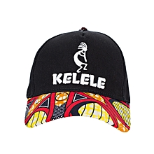 Black And Red Baseball / Sports Hat With Kelele Color On Brim