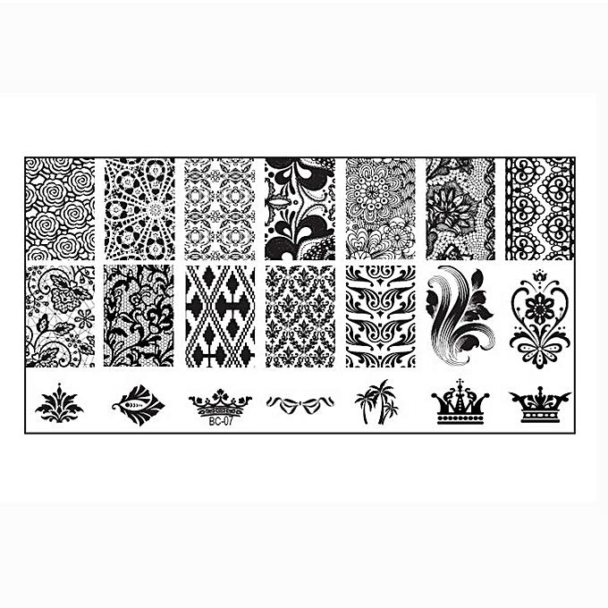 Buy Zlime 1PC Women Nail Art DIY Nail Stamp Stamping Image Plate ...