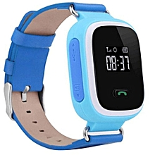 New Kid GPS Smart Watch Wristwatch SOS Call Location Finder Locator Device Tracker For Kid Safe Anti Lost Monitor Blue