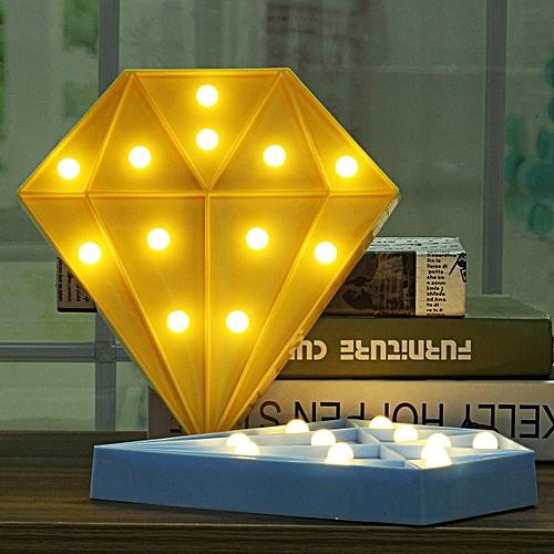Buy Generic 3d Diamond Led Table Lamp Night Light Kids Bedroom