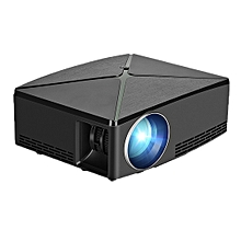 AUN C80UP 2200 Lumens 1280 x 720P LED Portable HD Theater Projector, Amlogic S905X Quad Core ARM Cortex-A53 up to 2.0GHz, Android 6.0.1 OS, 1GB + 8GB, Support WiFi, Bluetooth(Black)