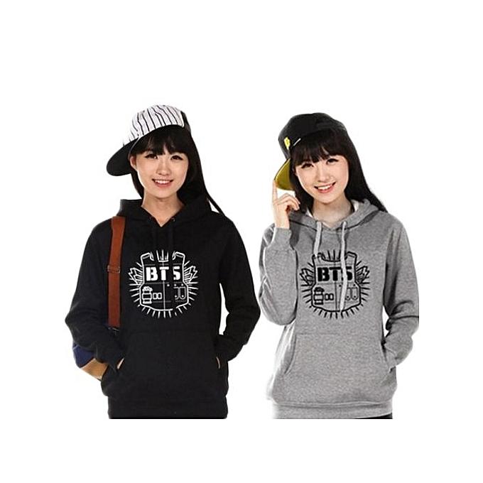 Women New Hoodie Sweatshirt Clothing Hoody Sweatshirts BTS Cotton Black  Grey Sweatshirts Women Long Sleeve Hoodies 0c3fd267240d