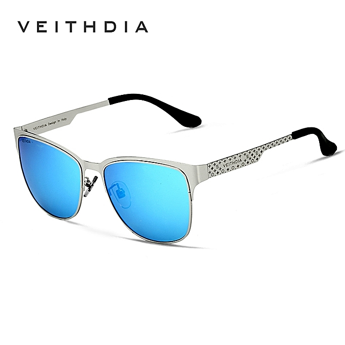af502a520ce VEITHDIA Stainless Steel Sun Glasses Polarized Blue Coating Mirror Driving Mens  Sunglasses Male Eyewear For Men
