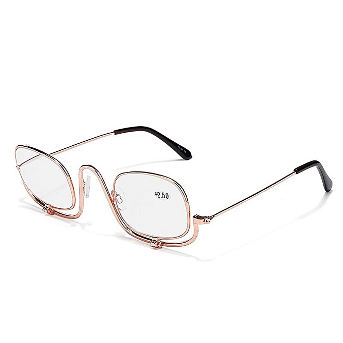 be6f564abb9 300 Degree Folding Magnifying Make Up Eye Reading Glasses Spectacles Flip  Down Lens ...