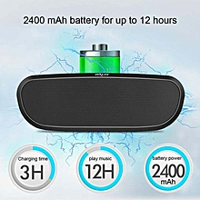 Kobwa Portable Bluetooth Speakers,Wireless Speakers Subwoofer,FM Radio,Support TF CardU Disk ,12 Hrs Playtime,10W Dual-Driver Loudspeaker,HD Stereo Enhanced Bass,Built-in Mic .(Black)