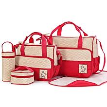 5piece Diaper Bag- Red