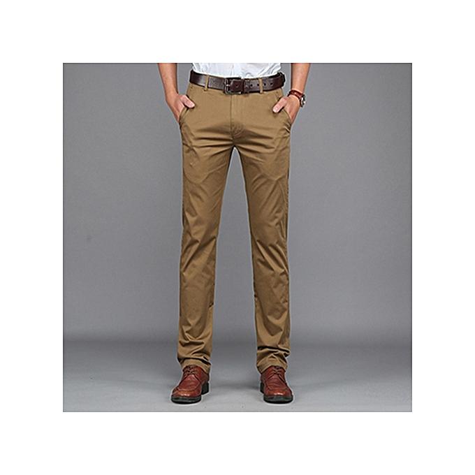 buy generic slim fit soft khaki pants brown best price jumia kenya