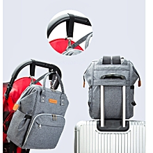 singedanMommy Diaper Bags Baby Thermal Bag Portable Mother Nappy Tote Handbag Pack GY -Gray