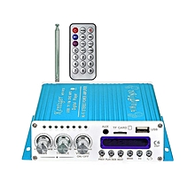 V10 - Audio Power Amplifier With Bluetooth, Hi-Fi, Class-D Stereo - Blue
