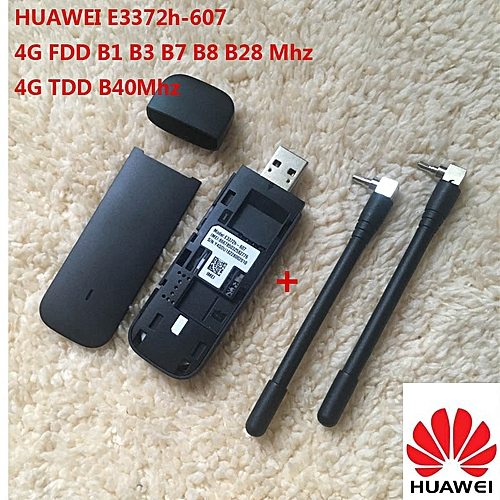 New Huawei E3372 Hilink E3372h-607 ( plus a pair of antenna ) 4G LTE  150Mbps USB Modem 4G LTE USB Dongle E3372h-607