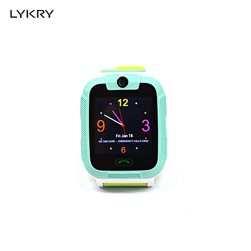 Children'S Smart Watch 3G Network Equipped With Android 4 2 System Gps +  Lbs Wifi Positioning Sos - Green