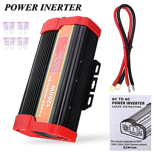 UNIVERSAL Professional 1200W W+1 Car Inverter DC 12V To AC 220V Power  Inverter Charger Converter Adapter Transformer Vehicle Power Supply Switch  Dual USB ... 6c2a90c42df6
