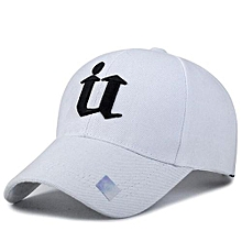 Sports Golf Leisure Hats U Letter Embroidery Sport Cap For Men And Women(White)