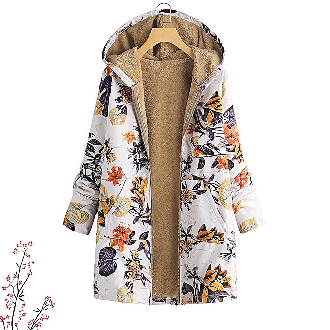 e69362ea9 Womens Vintage Winter Hooded Floral Coats Overcoats Jackets Parka