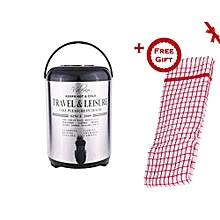 Stainless Steel Portable Hot Water Catering Coffee/Tea Urn (+ Free Gift Hand Towel).