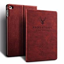 Smart Sleep Awake Deer Pattern Stand Flip Full Cover For Apple iPad Mini 1/2/3 Leather Cases Mll-S