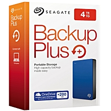 Seagate 4TB Backup Plus Portable Hard Drive (Blue)