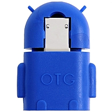 Android Robot Micro USB Host OTG Adapter Cable(Blue)