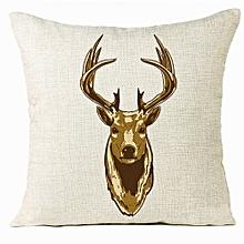 Xmas Christmas Elk Sofa Bed Home Decoration Festival Pillow Case Cushion Cover