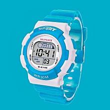 Tectores 2018 Fashion Multifunction Children Boys Digital LED Sports Watch Kids Alarm Date Waterproof Watch Gift SB