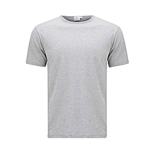 Light Grey Round Neck T-Shirt