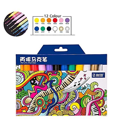Watercolor Brush Pens Set 12 Colors Art Marker Soft Flexible Tip Effect Best