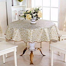 60'' Round Household Home Picnic Water Resistant Oil-proof Tablecloth PEVA Cover Turntable Flower Pattern
