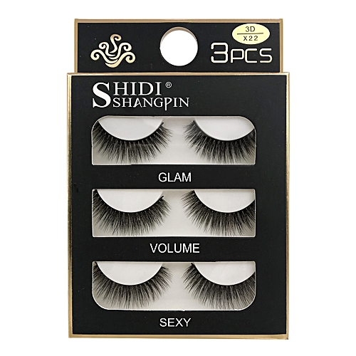 21ff22132a9 Generic SHIDISHANGPIN 3 Pairs Mink Eyelashes 3D False Lashes Thick  Crisscross Makeup Eyelash Extension Natural Volume Soft Fake Eye Lashes