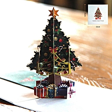 3D Hollow Carved Christmas Tree Card Pop Up Cards Laser Cut For Day Colorful