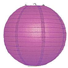 "Chinese Lanterns / Ball Lampshades - Silk Fabric 14"" purple"