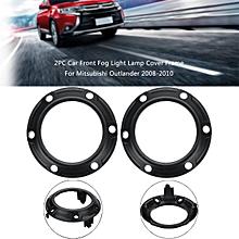 2PC Car Front Fog Light Lamp Cover Frame For Mitsubishi Outlander 2008-2010