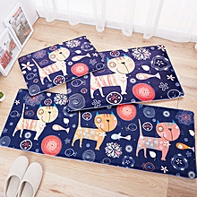 Flannel Floor Mat Kitchen Home Door Mats Long Kitchen Carpet Bedroom Anti-skid Mat Multi-purpose Mat 50 x 80 cm