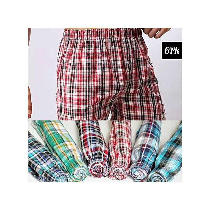 ac448efa651d Generic 6 Pack Classy Pure Cotton Woven Men Boxers Checked (colors ...