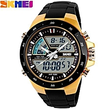 Skmei 1016 New Sports Watch Silicone 50M water resistant Light Digital, Black