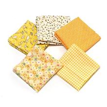 Fabric Cotton Bundles Fat Quarters Polycotton Material Florals Gingham Spots  Yellow