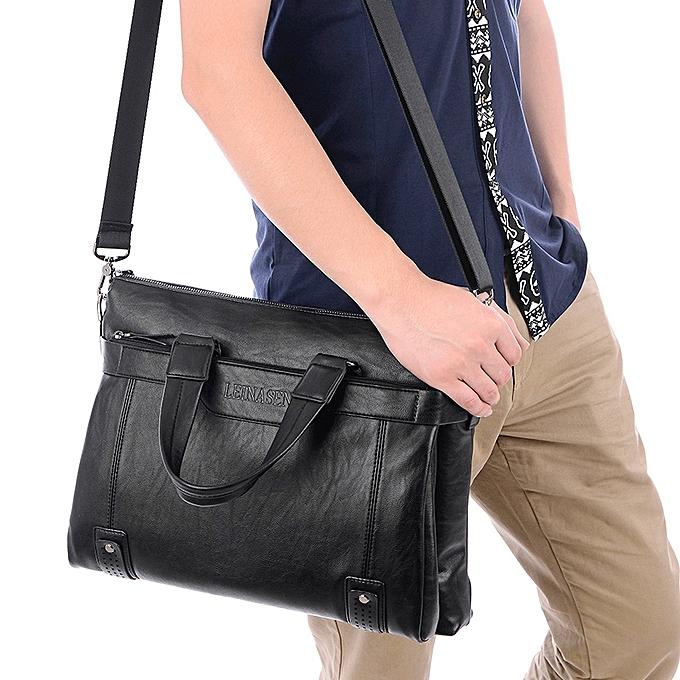 5d64c22fa51d ... Diagonal male bag handbag computer bag briefcase men s shoulder bag- Black ...