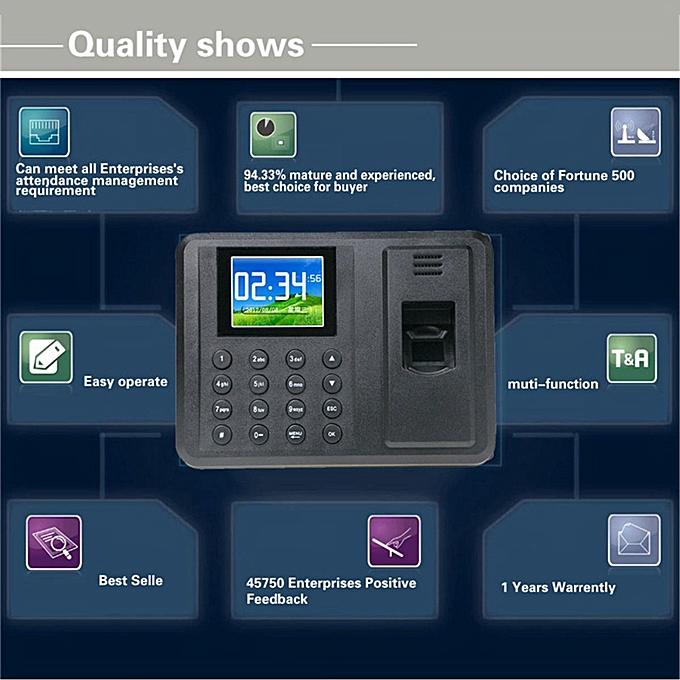 DANMINI Biometric Fingerprint Access Control Machine Punch USB Time Clock  Office Attendance Recorder Timing Employee RFID Reader(EU PLUG)