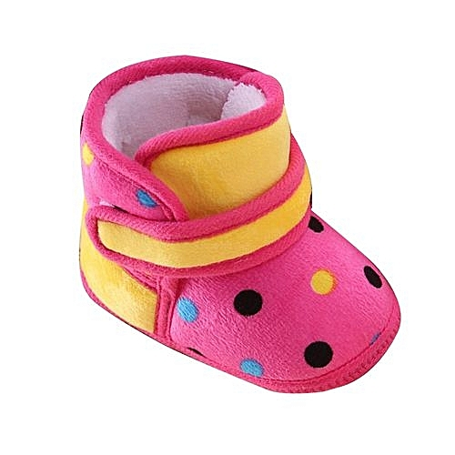 3a8adb31d Generic bluerdream-Toddler Newborn Baby Dot Print Boots Soft Sole Snow  Prewalker Warm Shoes HOT 12- Hot Pink. By Generic
