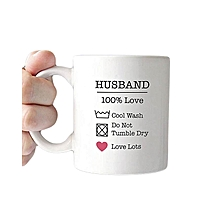 Husband 100% love - Printed on 11oz white ceramic mug