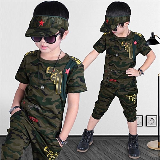 Boy's Clothing Big kid's kid's camouflage-Green