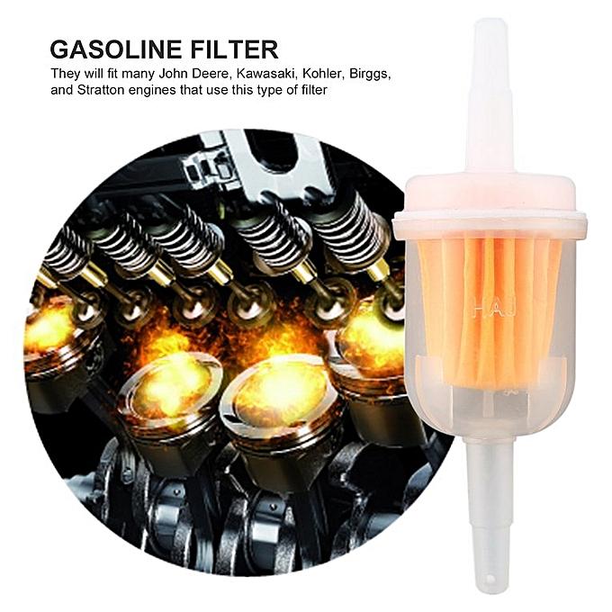 1pc petrol gas inline fuel filter for kawasaki kohler briggs stratton  john white&yellow