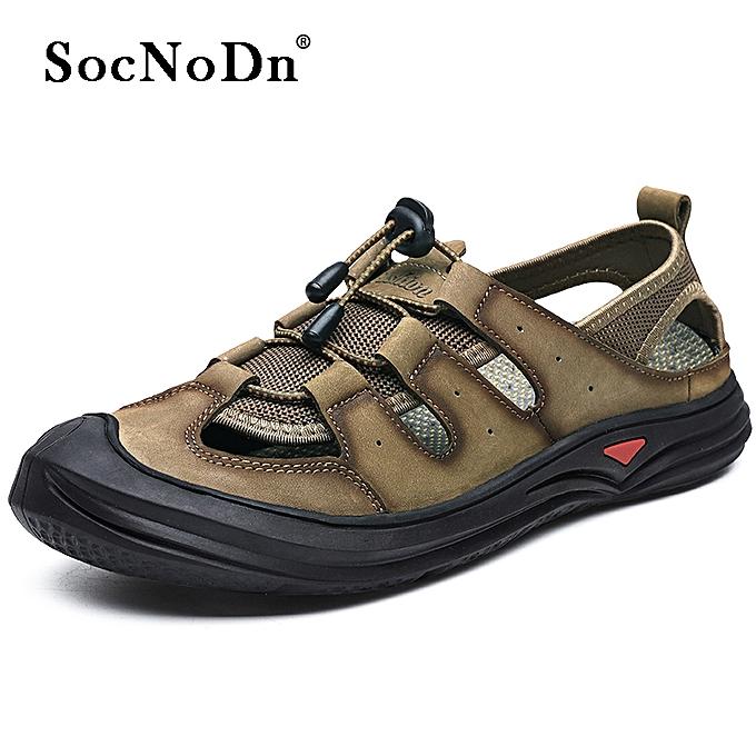 04ae4e057666 SocNoDn Men Fashion Summer Casual Hiking Beach Sandals Shoes Khaki ...