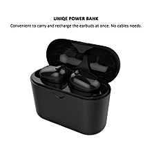 Wireless Earbuds, S570 TWS Bluetooth Headphone Smallest Mini Headset Twins Earphone with Charging Case - Black